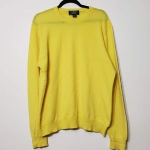 Brooks Brothers 100% Cashmere Yellow Sweater, sz L